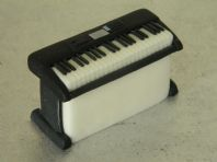 Piano Keyboard Cake Topper Set